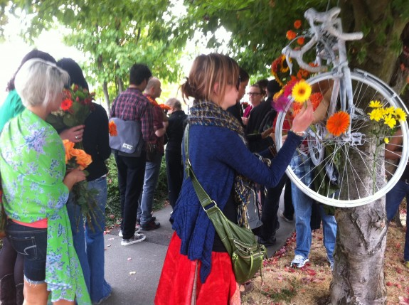 Friends of Brian Fairbrother held a beautiful memorial walk for him