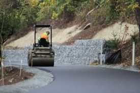 Crews work on remaking the Burke-Gilman Trail in 2011. Image from King County Parks
