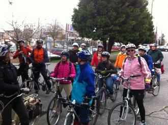 City leaders and Ballard residents tour some potential Ballard neighborhood greenways in 2012