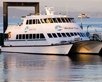 The Melissa Ann, which operates the passenger and bike ferry between Seattle and Vashon