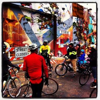 SBAB leads a community bikeability tour last year