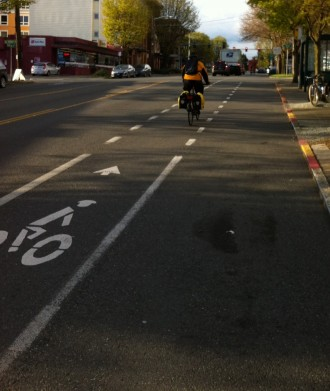 Another disappearing bike lane