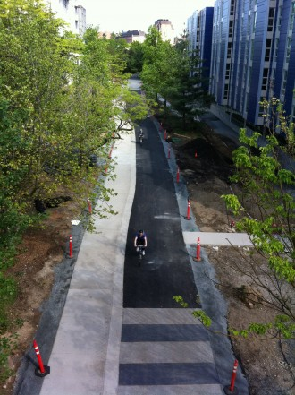 A recently-opened section of trail near the University Bridge demonstrates what the whole trail could someday be like