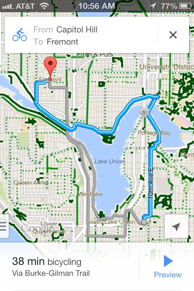 Hey everybody! Google Maps for iOS finally includes bike ...