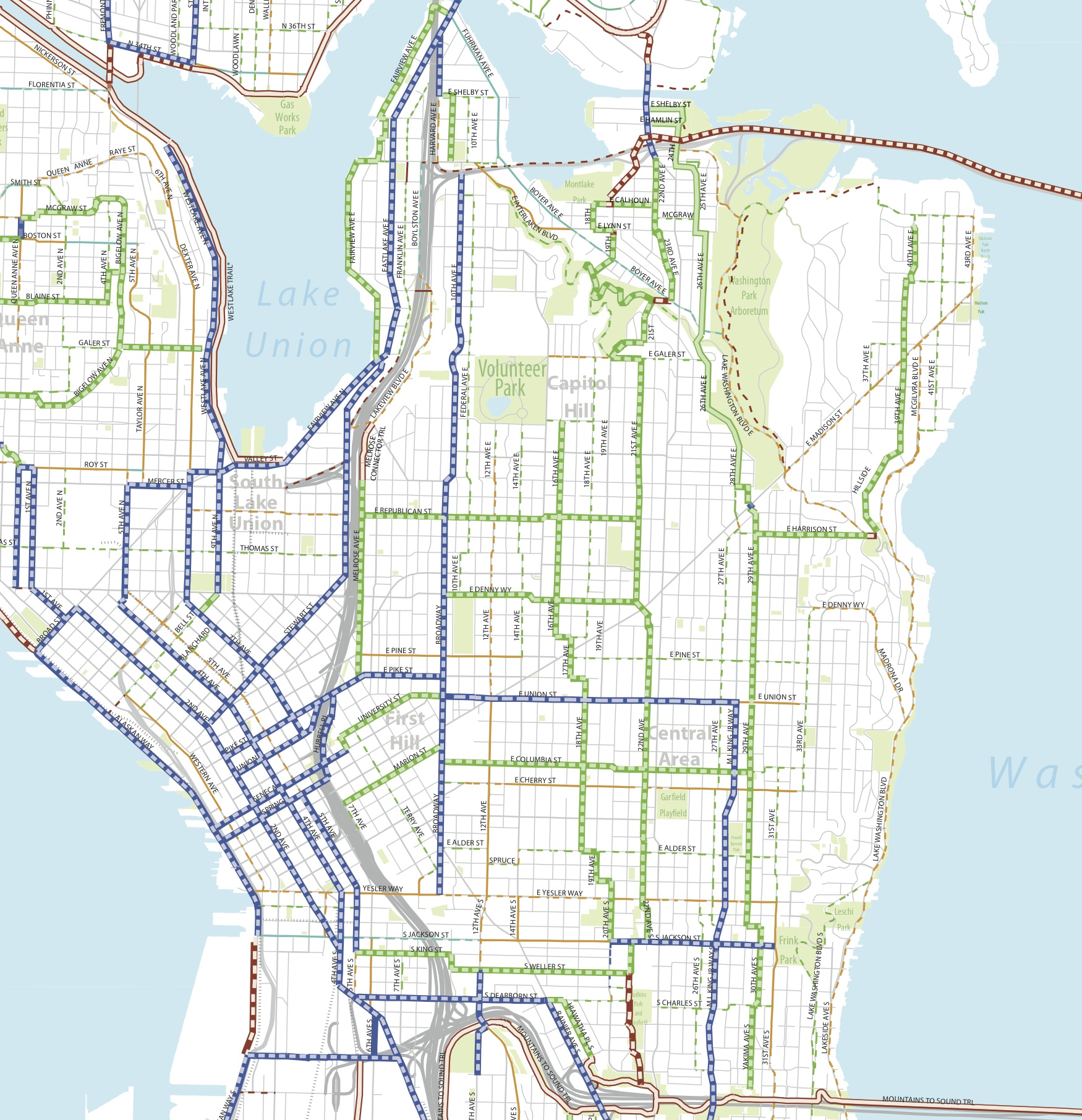 Seattle BMP Master Mapcentral Seattle Bike Blog
