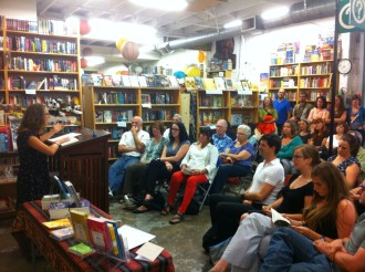 Kelli reading at Powell's on Hawthorne in Portland