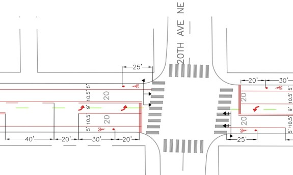 From SDOT's design plans. See full PDF here.