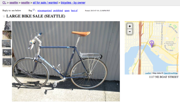 Bikes Craigslist Seattle Seattle Bike Blog
