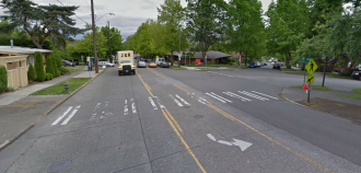 Approximate location of the collision. Image via Google Street View