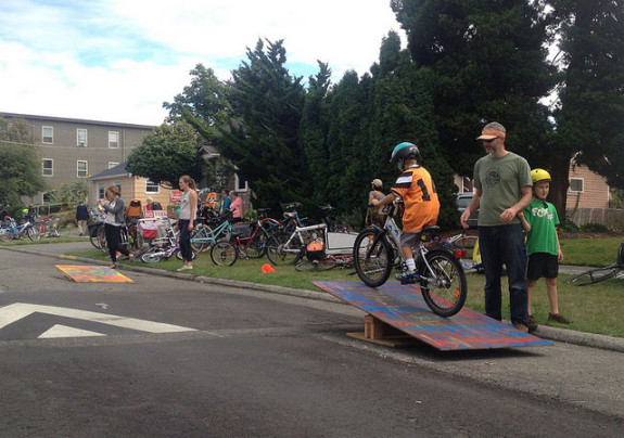 Ballard Greenway Celebration bike rodeo