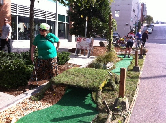 A putt-putt golf course made of car parts! (feat. Cathy Tuttle of Seattle Neighborhood Greenways)