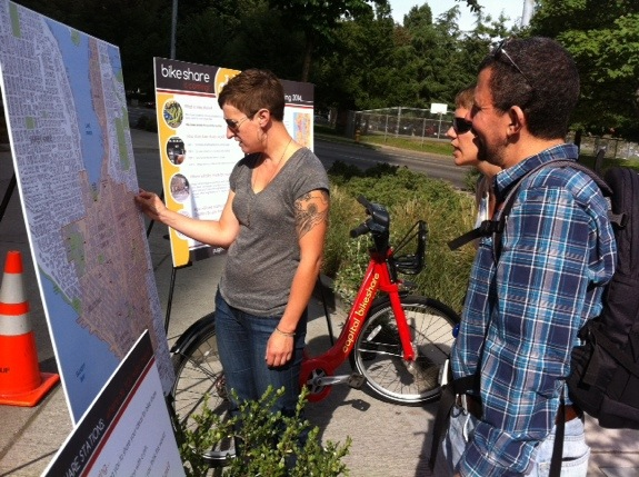 Pronto (then Puget Sound Bike Share) collects ideas for station locations