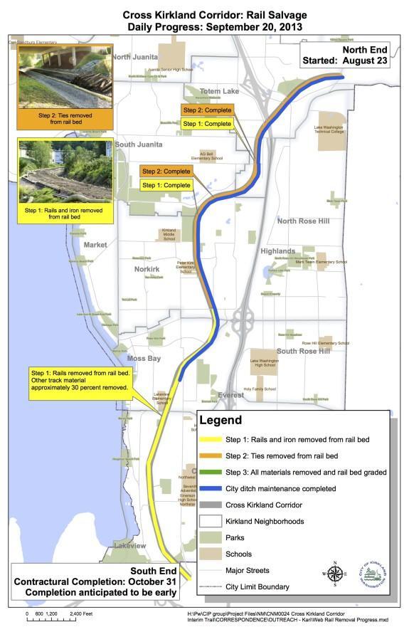 CKC Progress Map on Rail Removal