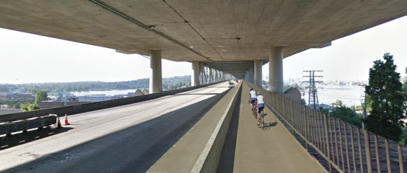 A Seattle Bike Blog concept image, using Google Street View images