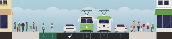 1st-ave-streetcar-between-stops-right-turn