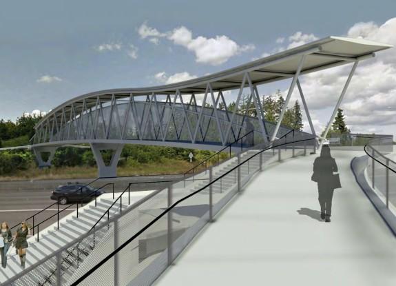 Concept of Overlake Village bridge from Redmond and Sound Transit