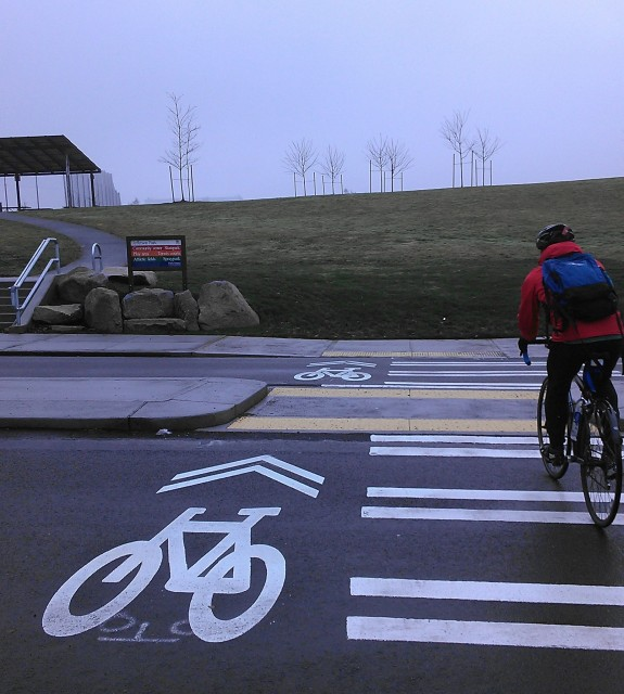 Crossing in Jefferson Park from S Lafayette Street