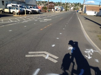The city's plans for advisory bike lanes have been scrapped in favor of a two-way bikeway. Photo courtesy of Fred Young