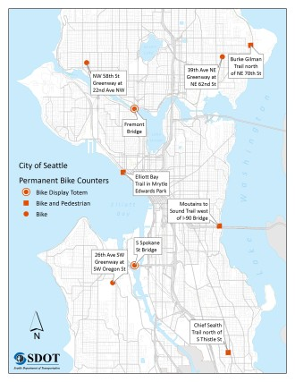 Permanent Bike Counters Map