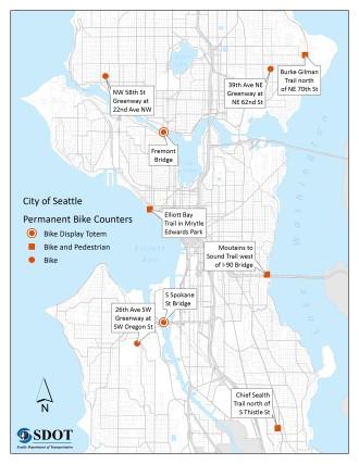 Permanent Bike Counters Map