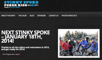 Screenshot from the Stinky Spoke website