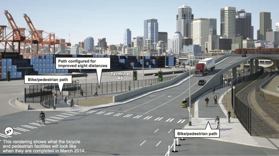 In early March, bike trail connections will open that should make the intersection easier to navigate. In the meantime, state says to be cautious.