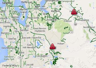 Approximate closure areas, via Google Maps.