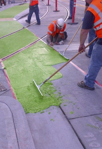 So much green paint. Image from SDOT