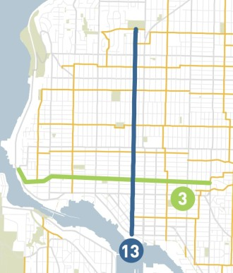 From SDOT's 2014 neighborhood greenway work plan (the exact route could change during the design process)