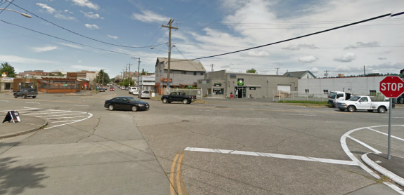 Looking north on 17th Ave NW at Leary Way. Image from Google Street View