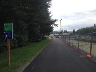 The Montlake Triangle detour trail