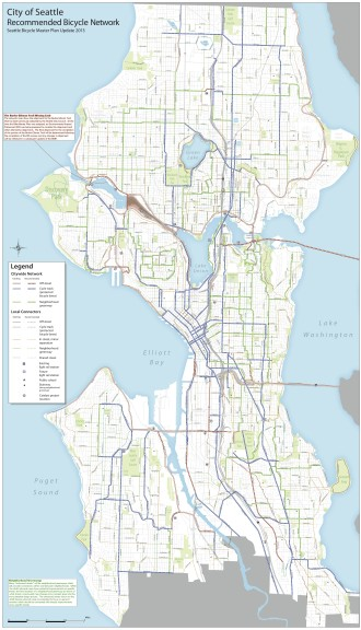 The proposed bike facilities map