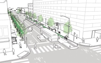 Could downtown Bellevue streets start to look more like this? Concept image from NACTO