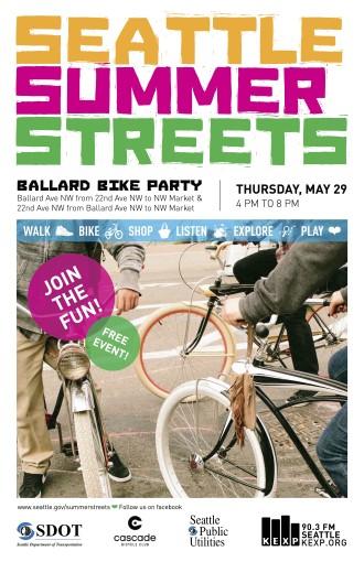 2014 Summer Streets Poster - Ballard