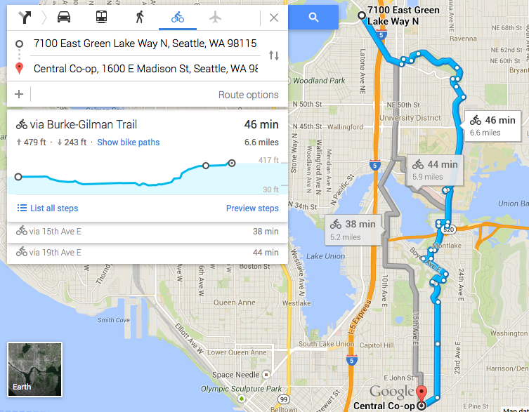 Google Maps Now Gives Elevation Information For Bike Routes