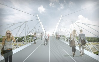 One design option for the Northgate bridge. Imagine a similar bridge connecting into Ballard.