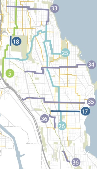 South Seattle will be the biggest focus for neighborhood greenways in the next couple year. See full map below.