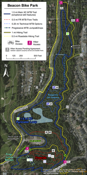 The original trails proposal. From the Beacon Bike Park website