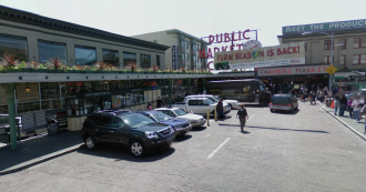 This is the perfect place for a bike share station. Image from Google Street View.