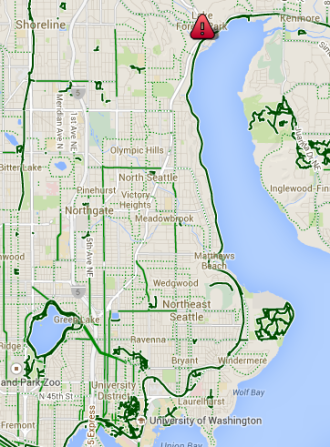 Work location, via google maps