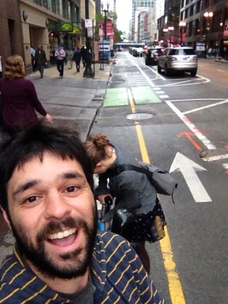 The Dearborn Street protected bike lane has made Chicago's downtown feel way less mean.