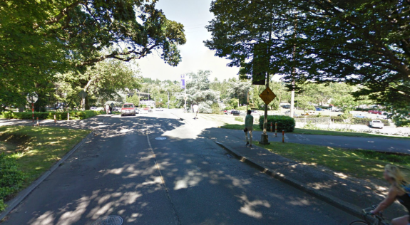 Image of the intersection before the changes, via Google Street View