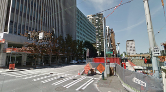 A familiar scene on Seattle Streets. Image from Google Street View.
