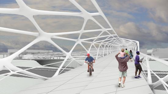 A possible bridge design. Image from SDOT.