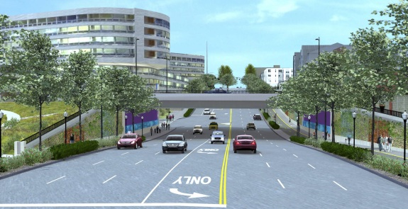 This Mercer underpass of Aurora is scheduled to open next year.