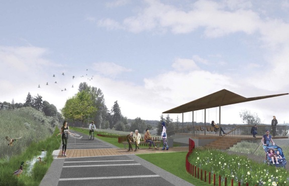 The Cross Kirkland Corridor Master Plan envisions a fully paved trail