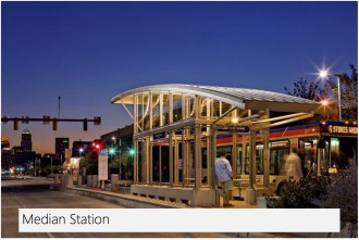 One example of how a center-aligned BRT could look on Madison. Image from an SDOT presentation