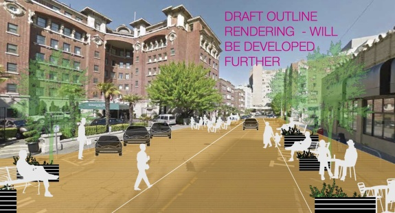 Image of Terry Ave from the First Hill Public Realm Action Plan.