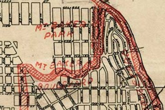Image of an Olmsted document, from the Friends of Mt Baker Town Center website.