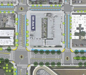 Map from SDOT. Mercer is the one with a million lanes.
